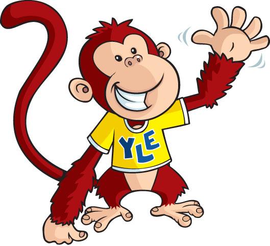 Małpa w koszulce YLE